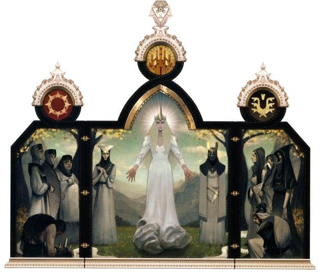 Andraste triptych http://dragonage.wikia.com/wiki/Andraste